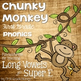 Long Vowels with Super E- Phonics Unit, Word Work and Lite