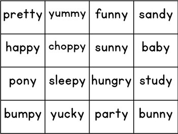 Long Vowels with Y Spellings Sound Sort