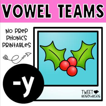 Y Long Vowel No Prep Phonics Printables for the Long E Sounds