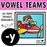 Long Vowels (-y) No Prep Phonics Printables