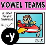Y Long Vowels No Prep Phonics Printables Long I Sounds