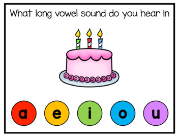 Long Vowels Digital Interactive Fun