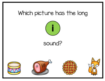 Long Vowels Digital Interactive Fun (Digital Classroom)