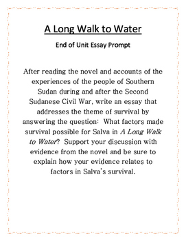 Long Walk To Water Essay Packet by Simone's NYS Middle ...