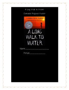 Long Walk To Water  Essay Packet