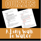 Long Walk to Water Reading Comprehension Quizzes: Complete Set