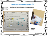 Long Y Vowel Word Sort