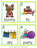 Long Y as E and I Words Write the Room Activity