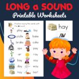 Long a /ā/ Sound Worksheet