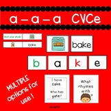Long a CVCe - Engaging small group or whole group activities