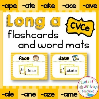 Long a CVCe Flashcards and Center Activities