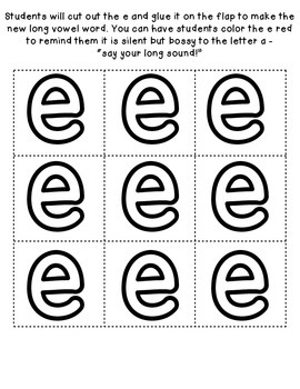 Long Vowel Patterns {Long a CVCe} Interactive Flip Book