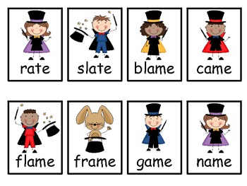 Long /a/ CVCe Word Game  -ate, -ame, -ake, -ale, -ace