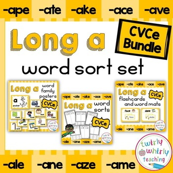 Long a CVCe Word Sorts Bundle