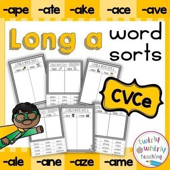 Long a Word Sorts CVCe