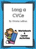 Long a CVCe Worksheets & Center Activities (Gr. 1 Wonders Unit 3, Week 1)