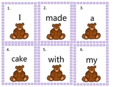 Long a Cvce bear themed write the room sentence