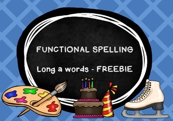 Long a FREEBIE - FUN and HANDS ON spelling activities