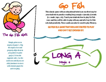 Long a Magic e (Sneaky e) Go Fish - Literacy Center Game