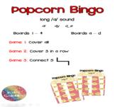 Long /a/ Popcorn Bingo