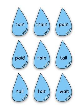 "Long a Rain Drops- ELA Center and ""Craftivity"""