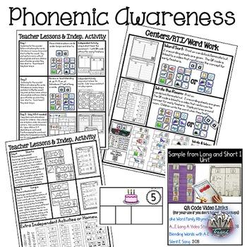Phonemic Awareness Activities: Long a Short a