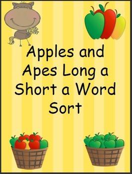 Long /a/ Short /a/ Vowel Word Sort