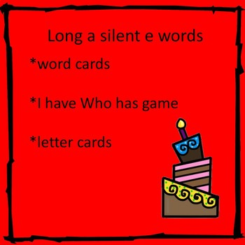 Long a Silent e cards and games