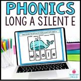 Long a Silent e Digital Phonics Word Work Google Classroom