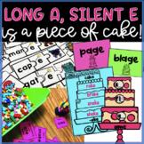 Long a, Silent e - Piece of Cake!  CVCe Puzzles, Printable