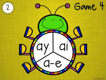 "Long ""a"" Sound (ai, ay, a-e) Game - Spin and Spell"