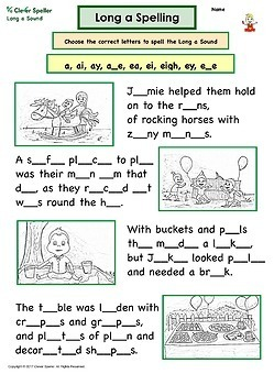 Long a Spelling Activities