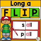 Long a (a_e, ai, ay) Word Family Phonics FLIP Books