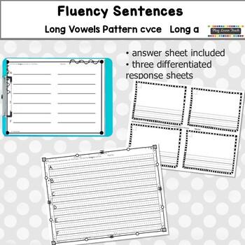 Fluency Sentences Long a CVCe Reading Intervention - FREE