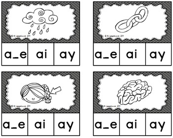 Long a Vowel Sound Clip Cards