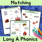 Long a Vowel Sound Matching Words and Pictures