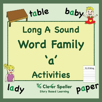 Long a Vowel Sound Word Family 'a' Spelling Bundle