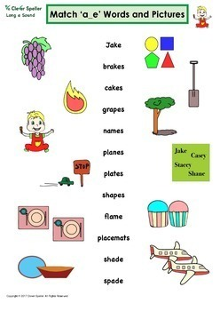 Long a Vowel Sound Word Family 'a_e' Spelling Bundle