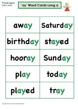 Long a Vowel Sound Word Family 'ay' Spelling Bundle