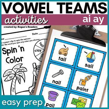 Long a Vowel Teams ai ay