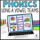 Long a Vowel Teams ai ay Digital Phonics Google Classroom