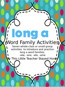 Long a Word Family Activities