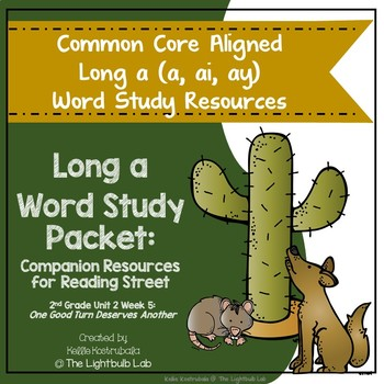 Long a Word Study Packet: (One Good Turn ...) Reading Street Resource Packet