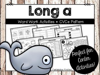 Long a Word Work Activities CVCe