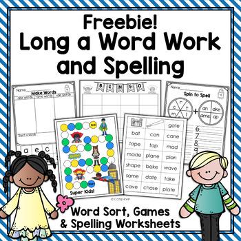 Long a Word Work & Spelling Freebie