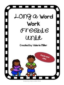 FREEBIE:  Long a Word Work Unit