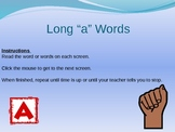 """Long """"a"""" Words Powerpoint for Fluency Practice"""