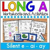 Long a Worksheets (silent e, ai, ay)