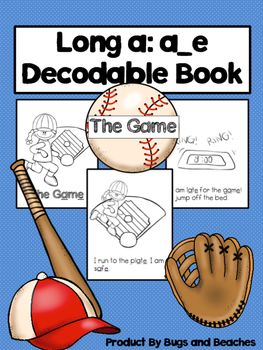 Long a: a_e CVCe Decodable Book