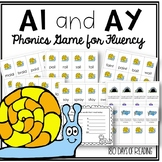 Vowel Team ai and ay Phonics Game for Reading Fluency Practice